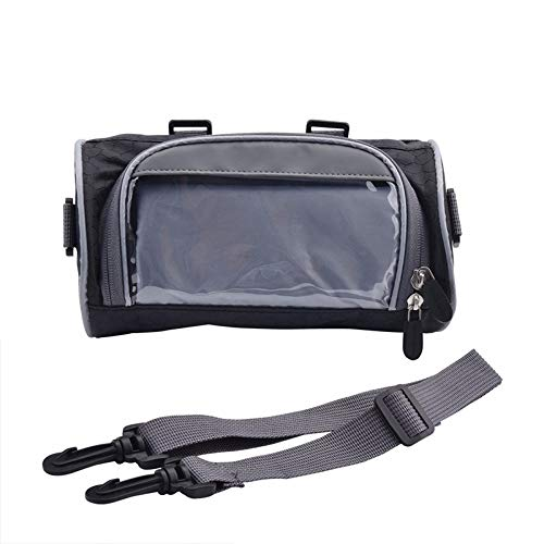 Motorcycle bag 2.5L Windshield Bag Motorcycle Front Handlebar Fork Storage Bag Container Fabric Waterproof Bicycle Front Frame Bag Black Motorcycle bag