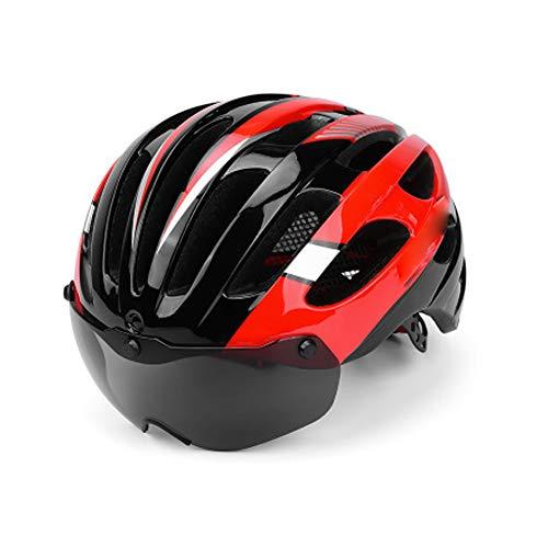 Seguridad Bicicleta de montaña Casco de Montar Gafas magnéticas integradas Bicicleta de...