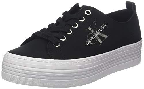 Calvin Klein Jeans Damen ZOLAH Nylon Sneaker, Schwarz (Black 000), 41 EU
