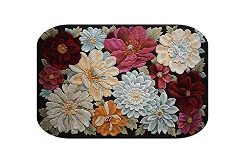 Big Incisor Bikini Bereich Teppich Schlafzimmer  3D-Blumen Druck Flur Teppiche Kreative Bodenmatte Schlafzimmer Wohnzimmer Teetisch Teppiche Anti-Rutsch-Küche Badezimmer-1-60x90cm