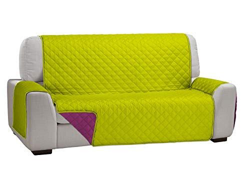 Martina Home Martina Dual Cover Cubre Sofá Acolchado Reversible, Pistacho / Fucsia, 2 Plazas