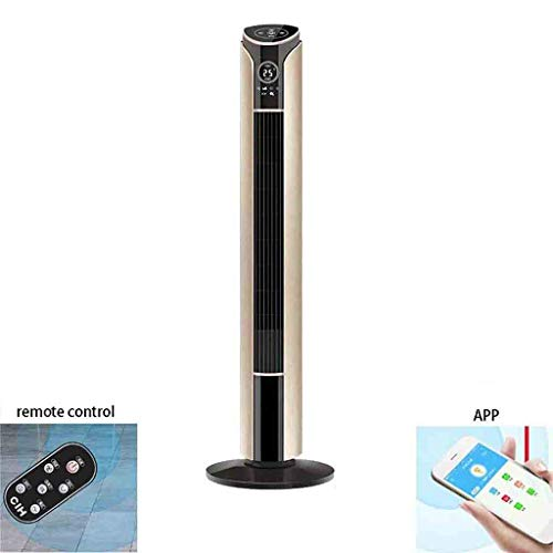 Oscillating Tower Fan with Remote Control and APP, 45W, 3-Speed 3-Wind Mode and 1-12 H-Timer, 42-inch bladeless Pedestal Fans for Home and Office