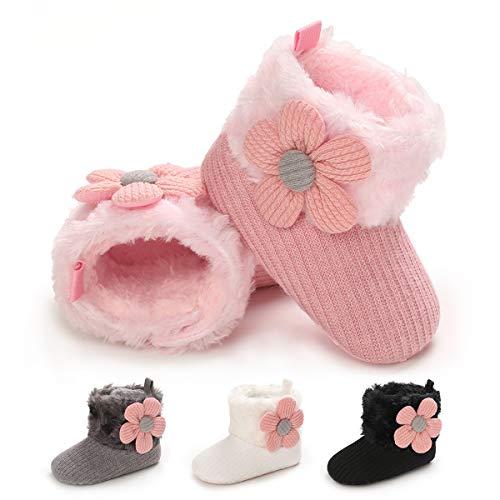 BENHERO Infant Baby Boys Girls Boots Premium Soft Sole Anti-Slip Warm Winter Snow Boots Newborn Crib Shoes(12-18 Months Toddler), N-Pink