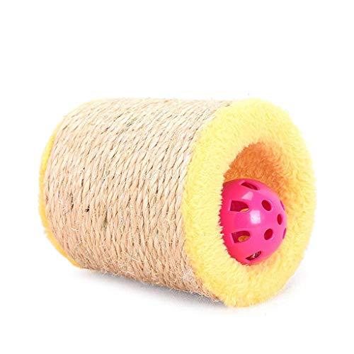 Krabpalen for katten speelgoed klauw mes sisal drum telescopische bell bal grappige kat krasraad creatief plezier (Kleur: Groen) AQUILA1125 (Color : Yellow)