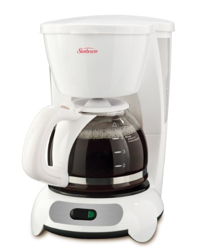 Sunbeam 5-Cup Switch Coffee Maker, White - BVSBTF6-033
