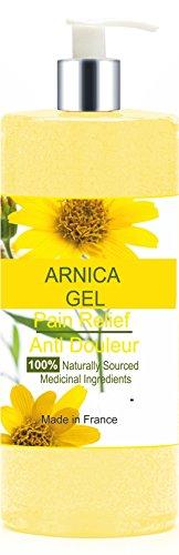 Gel à l' Arnica 200 ml Peau de Bébé - Douleurs Musculaires - Ecchymoses - Gel Rafraîchissant - Hématomes - Soulage les douleurs - Sport Récupération - Articulations - Gel de Massage