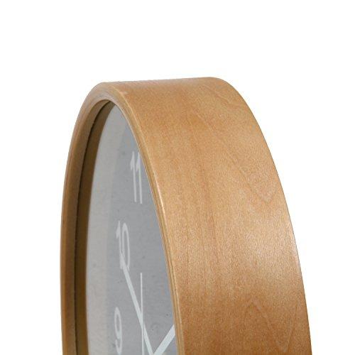 不二貿易『プライウッド天然曲げ木時計』
