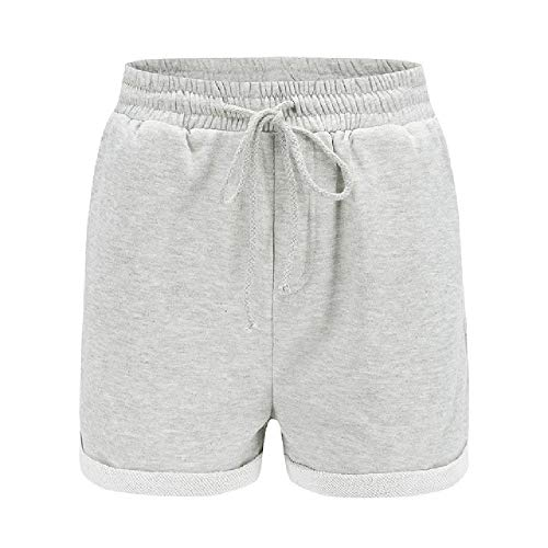N\P Pantalones cortos de las mujeres pantalones cortos ocasionales pantalones cortos de la playa de la muchacha de la cintura alta