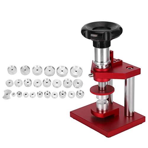 Presionando la caja trasera del reloj, reparación de relojes Herramienta de prensa de caja de reloj duradera de 0,5~1,7 pulgadas, diseñada para reparación de relojes