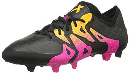 adidas Herren X 15.1 Fg/Ag Fußballschuhe, Schwarz (Core Black/Shock Pink/Solar Gold), 44 2/3 EU