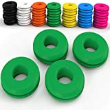 Z Best Tennis Vibration Dampeners - Reduce String Rattle and Elbow Pain - Shock Absorbing Set - Great for Racquetball, Squash, Badminton - 4 Pack (Green)