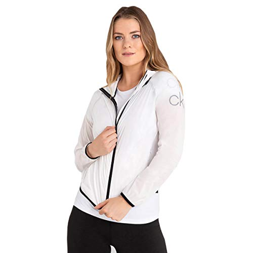 Calvin Klein Chaqueta cortavientos ligera con capucha para mujer 2021 Arena