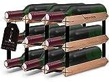 VINTAGENUSS Weinregal aus Holz- 3 Varianten (9 Flaschen)