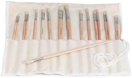 Darice Free shipping on posting reviews 18-Piece Brush Set with Holder Credence