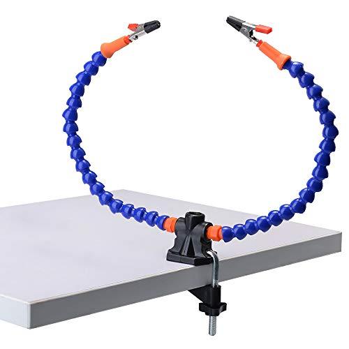 Flexible helfende Hände, Lötkolben-Zubehör-Werkzeugsätze (zwei flexible, ungewöhnliche Arme, 5-cm-Klemmhalter, einstellbarer maximaler Platz, einfaches Design für einfache Bedienung
