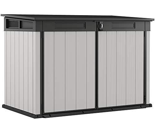 Ondis24 Keter Mülltonnenbox, inklusive Schloss, Müllbox 2020L, 3x240L Mülltonnen, Fahrräder, Gartengeräte, Gartenbox belüftet, Gerätebox &...
