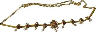 Laxmi Jewells Alloy Traditional Bridal Waist/Hip Belt for Women (Golden & Green & Red)
