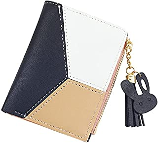 Wallet for Women Leather Short Wallet Bifold, Blocking Wallet Credit Card Holder Organizer with Pocket Mini Lady Purse