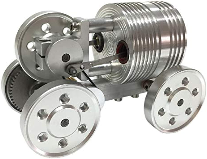 Batop Stirlingmotor, Startbares Auto Stirling Engine Kit Stirlingmotor Modell DIY Physik Unterricht Spielzeug, Geschenk für Kinder Erwachsene