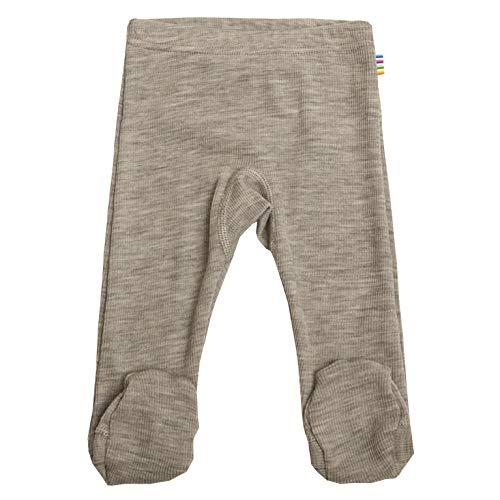 Joha Baby Jungen Mädchen Leggings mit Fuß Merinowolle/Seide, Größe:50, Farbe:beige Melange