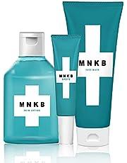 医薬部外品 ニキビ 洗顔 + 化粧水 + 薬 用 スポッツ 毎日の ニキビケア や 黒ずみ 対策に MNKB(メンズ ニキビケア) スキンケア 3点セット 色素沈着 に効果的な 思春期 にきび の 予防 100g&150ml&10g