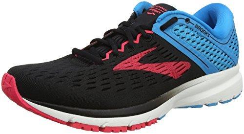 Brooks Women's Ravenna 9 Running Shoes, Multicolour (Black/Blue/Pink 1B036), 4.5