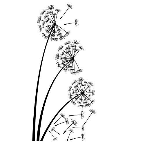 Pusteblume wiederverwendbare Schablone A3 A4 A5 Modern Style Wanddeko Craft Flora F20, Mylar, wiederverwendbare Schablone, A4 size - 210 x 297 mm, 8.3 x 11.7 in