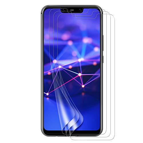 Schutzfolie für Huawei Mate 20 Lite,Blasenfrei, Anti-Kratzen, Anti-Öl, HD Klar Flexible Displayschutzfolie für Huawei Mate 20 Lite Folie [3 Stück]