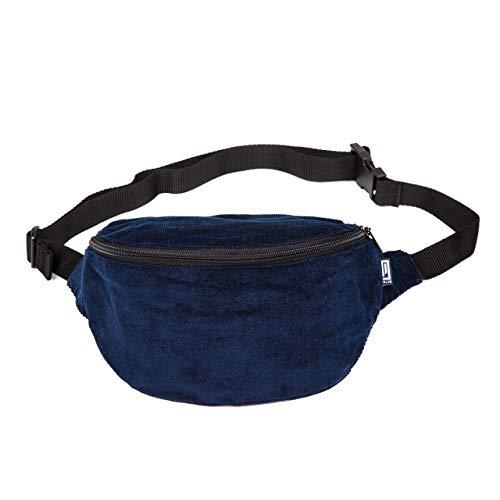 PP-BERLIN Bauchtasche blau Cord fein | handgemacht & vegan | Gürteltasche blau | Hip Bag Cord | Vintage Fanny Pack | Hüfttasche Damen & Herren