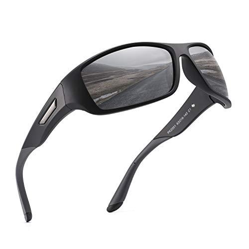 PUKCLAR - lunettes de soleil de sport polarisées pour hommes et femmes, lunettes de soleil de conducteur, course, vélo, lunettes de soleil de golf uv400 CAT.3