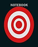 Notebook: darts board target archery1 - 50 sheets, 100 pages - 8 x 10 inches