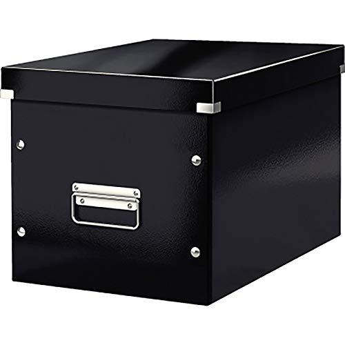 Leitz Click & Store Aufbewahrungs- und Transportbox, Würfelform, Groß, schwarz, 61080095
