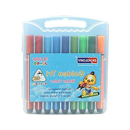 TY-UNLESS 12/18/24/36 marcadores de Colores Marcador de Dibujo a Base de Agua con Caja Transparente para Libros de Colorear lápices de Acuarela de caligrafía cómica Escolar
