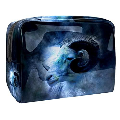 Bolsas de maquillaje Viaje Cosméticos Bolsas de Cepillo Bolsa de Neceser Bolsa de Lavado Bolsa de Horóscopo Signo Zodiaco Azul, Multi08, 18.5x7.5x13cm/7.3x3x5.1in,