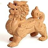 BNHY Pixiu/Statues Piyao Feng Shui Chinois Sculpture décor sculpté à la Main en Bois Ornement Figurine Attirer la Richesse et Bonne Chance Maison et Le Bureau 0815