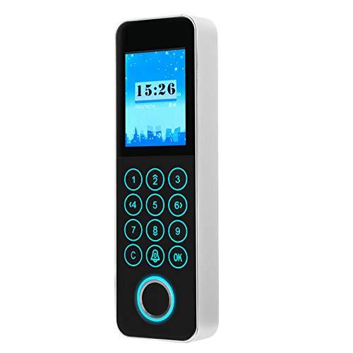 Máquina de Control de Acceso de Asistencia biométrica, 125 KHZ RFID Tiempo de Asistencia del Empleado TCP/IP Reconocimiento de Tarjeta de identificación de contraseña de Huella Dactilar