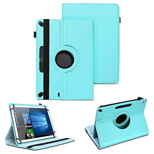 NAUC Tablet Tasche kompatibel für Archos Copper 101C Hülle Schutzhülle aus hochwertigem Kunstleder Standfunktion 360° Drehbar Universal Hülle, Farben:Türkis