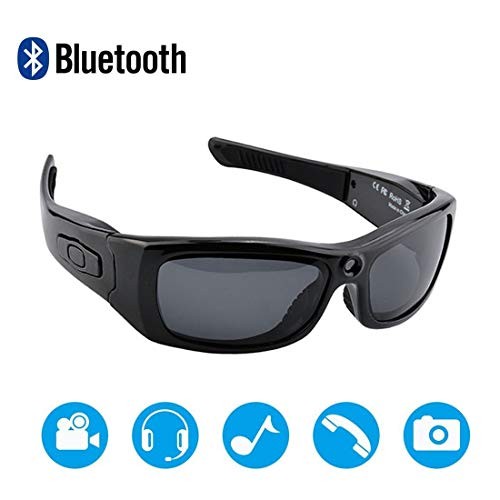 Newwings Bluetooth Sunglasses Camera Full HD 1080P Video Recorder Camera with UV Protection Polarized Lens, Great Gift for Your Family and Friends