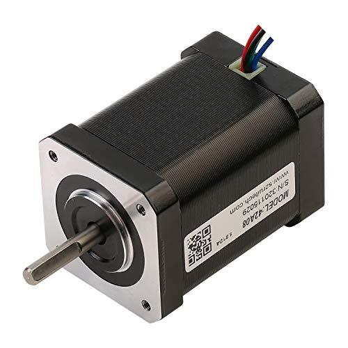 RTELLIGENT Nema 17 Stepper Motor 4-Wire 0.71Nm 1.8Deg 1.8A 2 Phase 42x42x60mm Step Motor 3D Printer/CNC Machine