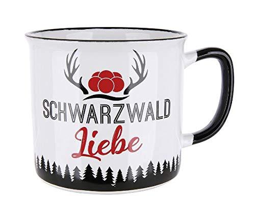 Rostalgie Keramik Kaffeetasse -Schwarzwald Liebe- Becher Geschenk Urlaub