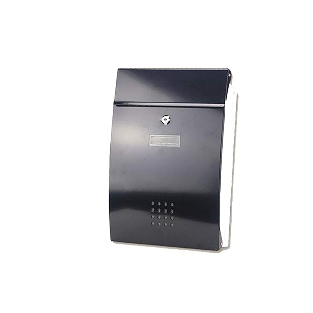 カップ確かな安全CKH アウトドアヴィラアウトドアレターボックスヨーロッパの学校のレターボックス壁吊りバーの装飾小道具郵便箱ブラック