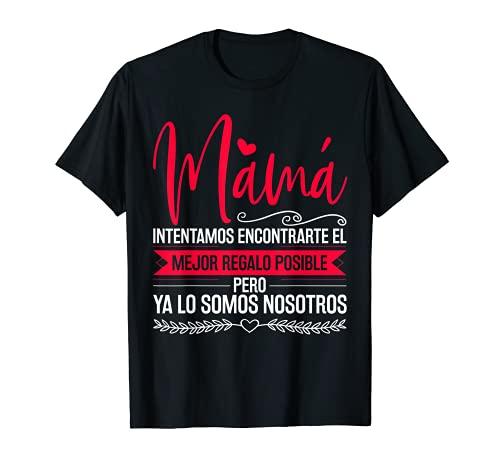 Día de la Madre Camiseta Mujeres Mamá Hija Hijo Regalo Madre Camiseta