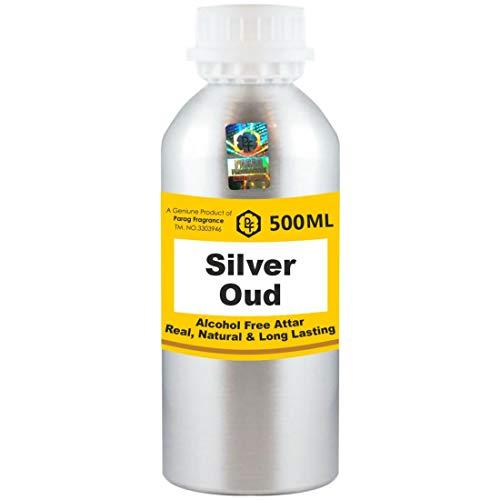 Parag Fragrances Silver Oud Attar Pack Wholesale Attar (sans alcool, longue tenue pour homme, femme et utilisation religieuse) Worlds Best Attar | Itra | Huile de parfum | Scent