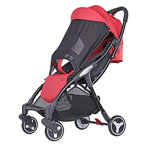 YUMO Leichte Kinderwagen-Buggy, Besrey Travel Buggy mit Reclinable Backseat Easy Fold Compact Flugzeug Wagen, Grau (0-36 Monate),Rot