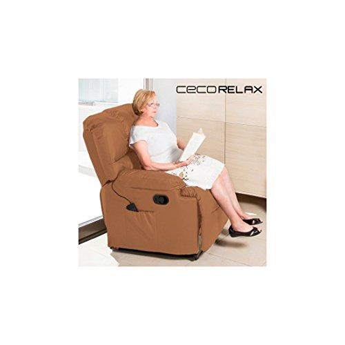 Sillón Relax Masajeador Cecorelax Camel 6005