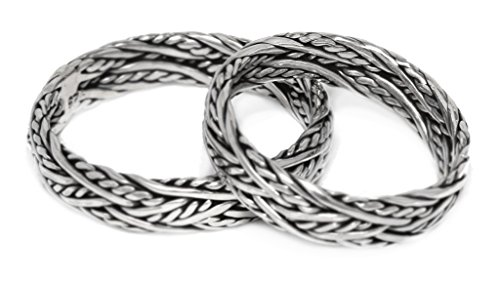 Windalf Wikingerring ARKON h: 0.5 cm Freundschaftsbund 925 Sterlingsilber (Silber, 56 (17.8))