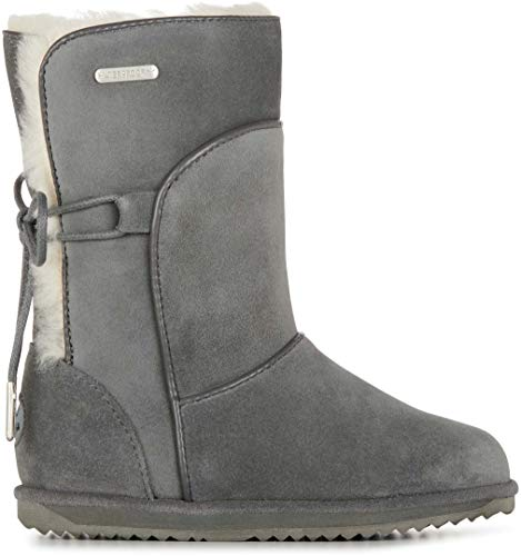 EMU Australia Airlie Kids Wool Waterproof Boots Size 1 EMU Boots Charcoal