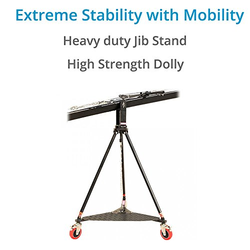 PROAIM Wave-5P 32ft/10m Camera Jib Crane Flight Production Package with Tripod Stand, Dolly, Pan Tilt & Zoom Control Support Weight up to 21kg/46lbs + Carrying Bag (P-W5P-FLT)