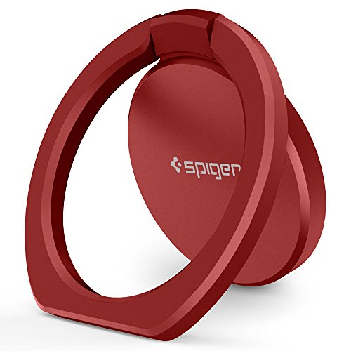 Spigen Style Ring 360 Cell Phone Ring/Phone Grip/Stand/Holder for All Phones and Tablets Compatible with Magnetic Car Mount - Red