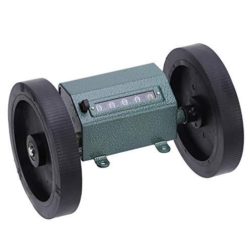 0-9999.9, con mecanismo de puesta a cero, Z96-F, contador de metros tipo rollo, acero inoxidable + caucho, para medir textiles para cuero artificial(Code counter)